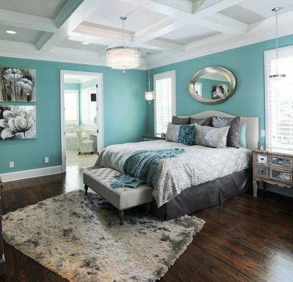 peinture-chambre-à-coucher-bleujpg (600×578) Déco bleu gris - peinture chambre gris et bleu