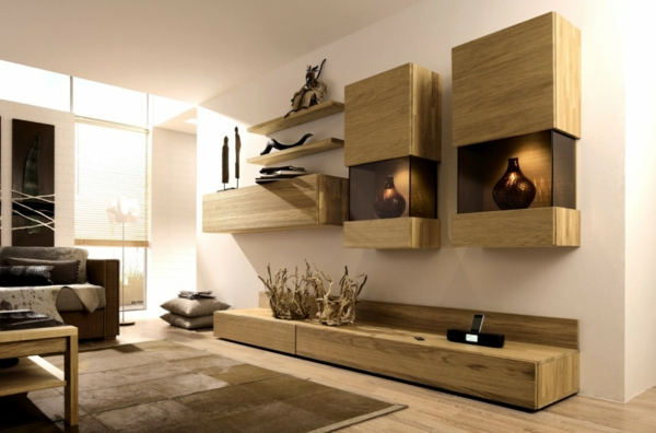 Le meuble suspendu de salon décore et modernise le salon - Archzinefr