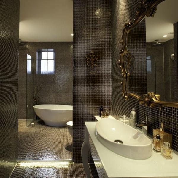 carrelage-mosaique-salle-de-bains-élégantejpg (600×600) salle de - salle de bain carrelee