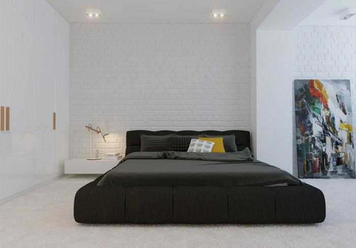 Black And White Wallpaper Living Room Installer Une Table De Nuit Suspendue Pr 232 S De Son Lit