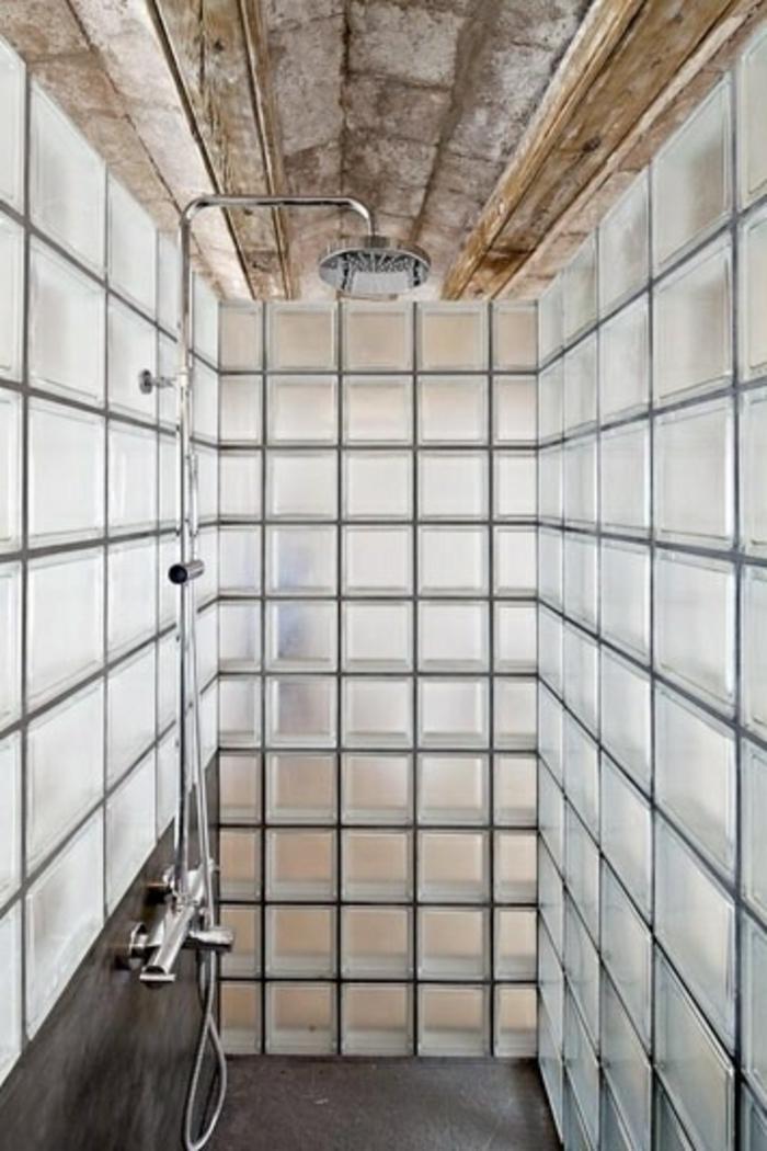 Mur En Brique De Verre Salle De Bain Trendy Salle De Bain Avec