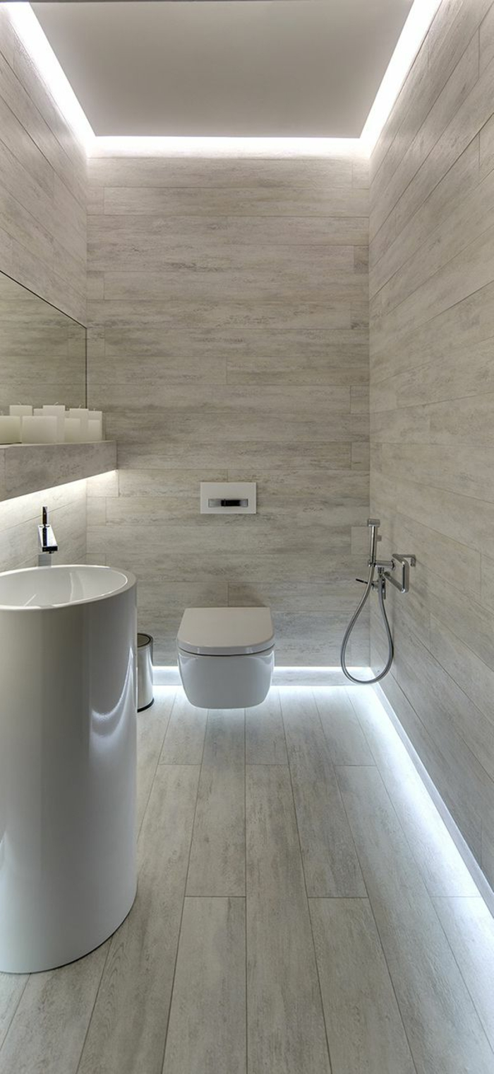 Badezimmer Decken Gestalten L'éclairage Indirect 52 Super Idées En Photos