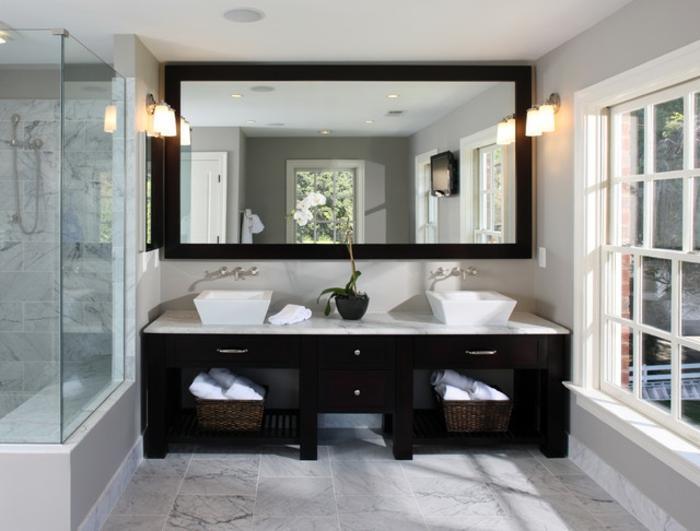Meuble double vasque - 50 idées aménagement salle de bain - Archzinefr