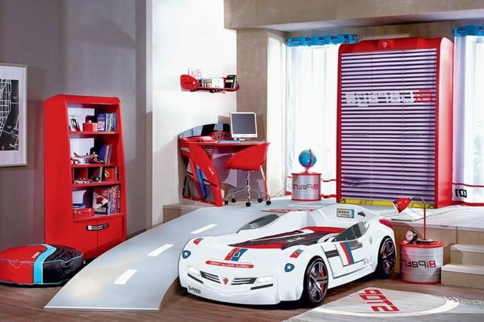 Lit enfant ferrari gallery of lit enfant turbo lit - Chambre enfant voiture ...