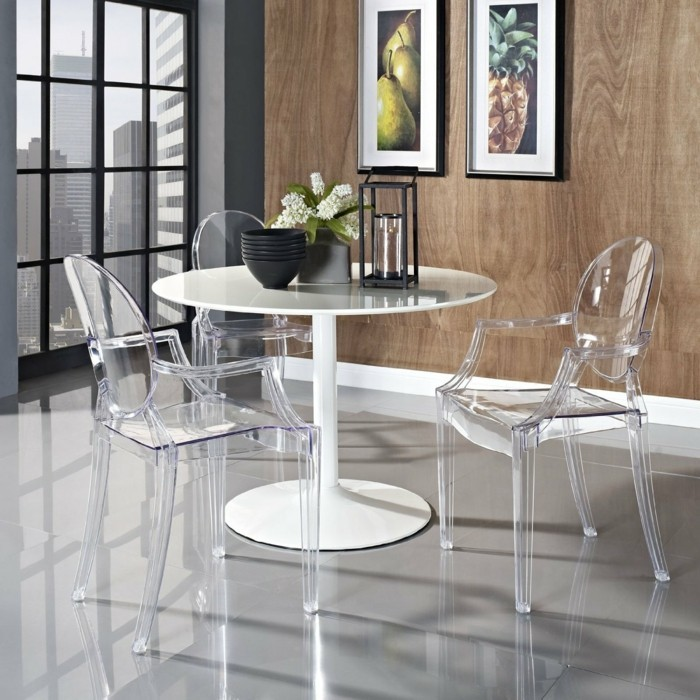 Table A Manger Contemporaine Pourquoi Choisir La Chaise Design Transparente?
