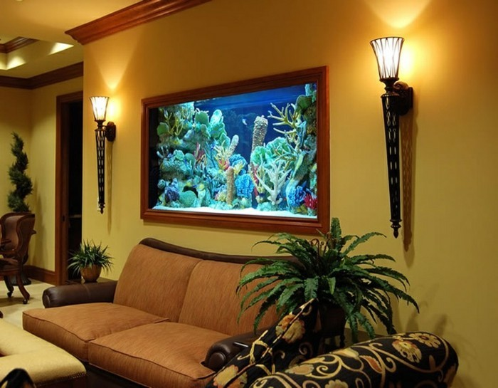De Salon Couleur Taupe L' Aquarium Mural En 41 Images Inspirantes!