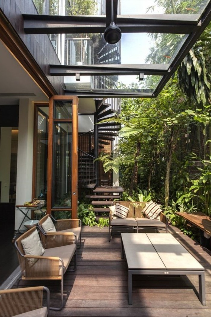 Faites un toit en verre pour votre terrasse moderne Pergolas