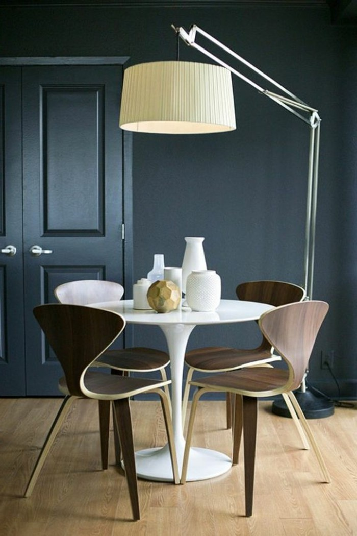 Chaises Scandinave Blanche La Plus Originale Table De Cuisine Ronde En 56 Photos!