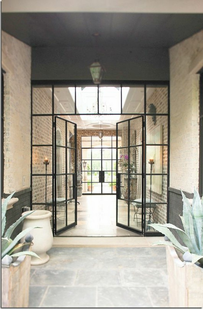 Porte De Placard Bois Et Miroir