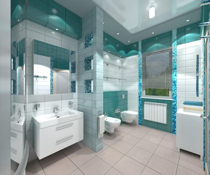 Beau ... 1001+ Designs Uniques Pour Une Salle De Bain Turquoise ...