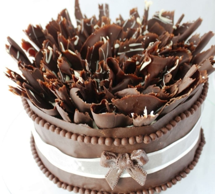 Comment Faire Une Decoration De Gateau Deco Gateau Au Chocolat
