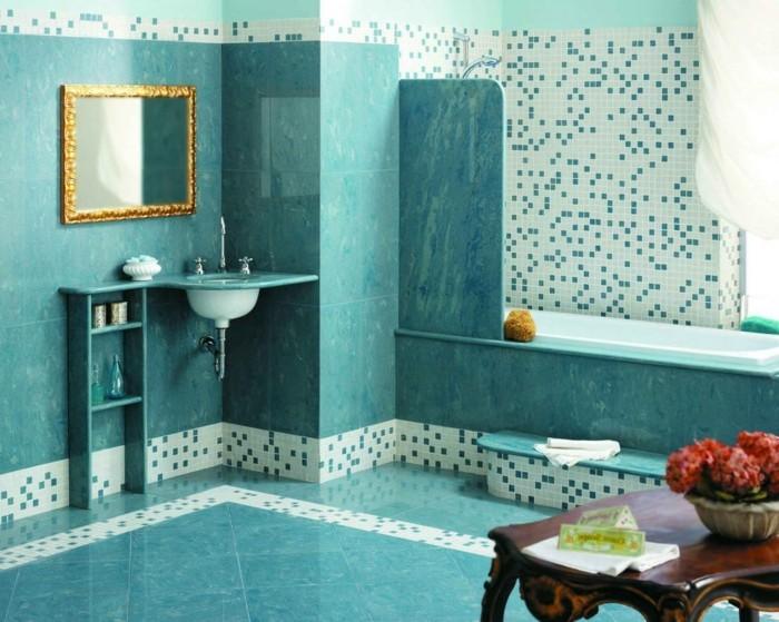 Meuble De Salle De Bain Turquoise