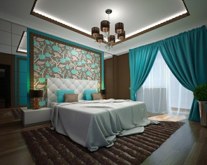 ... 1001+ Designs Stupéfiants Pour Une Chambre Turquoise ...