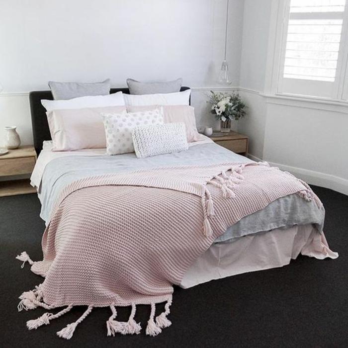 Idee Deco Chambre Rose Et Gris