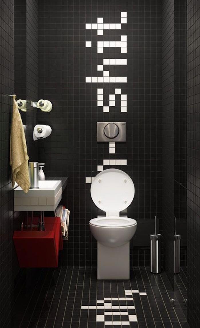 Idee Decoration Wc   Salle De Bain Carrelage Metro Maison Design ...