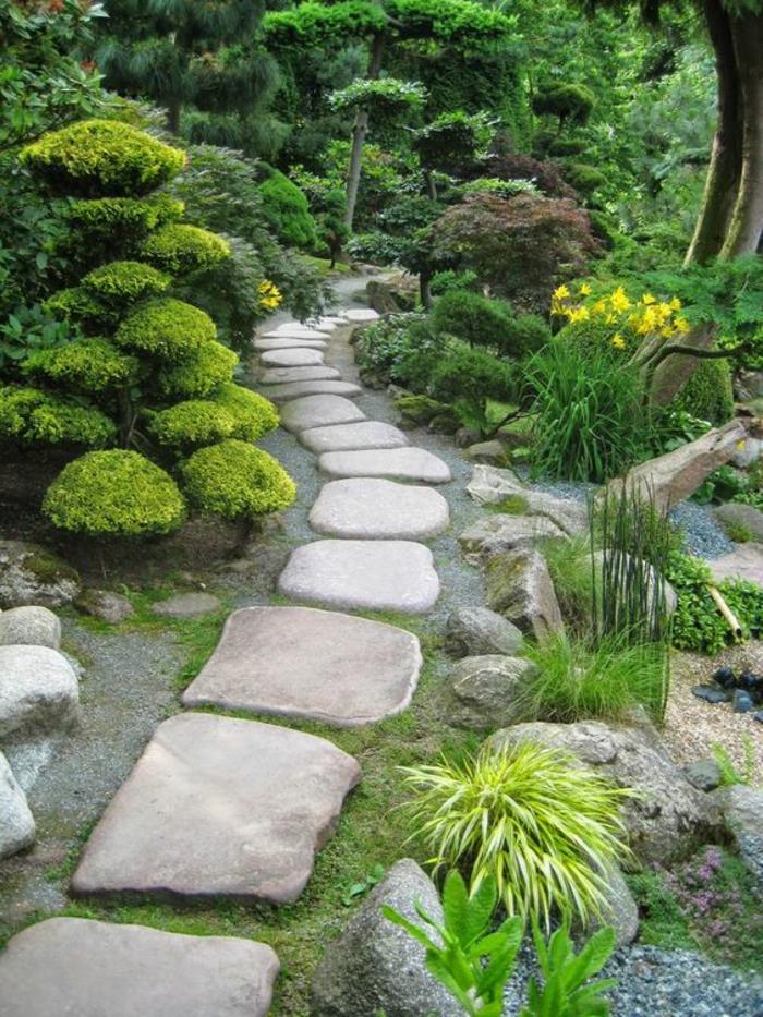 Jardin Avec Galet | Modele De Jardin Avec Galets