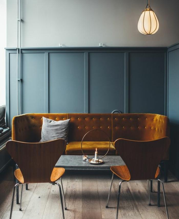 Deco Salon Bleu Canard | Recyclé | Objet Déco