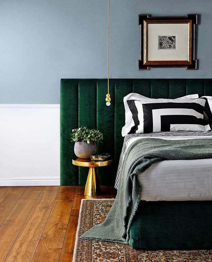 Chambre Verte Et Marron