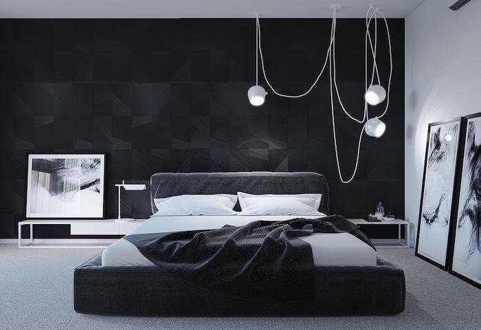 Deco Chambre Jaune Noir Blanc | Tableau Pont San Francisco Par Noox
