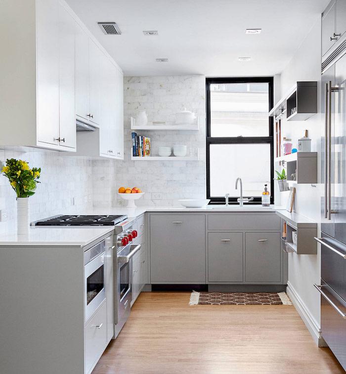 ▷ 1001 + idées Déco cuisine gris et blanc \u2013 sobre et efficace