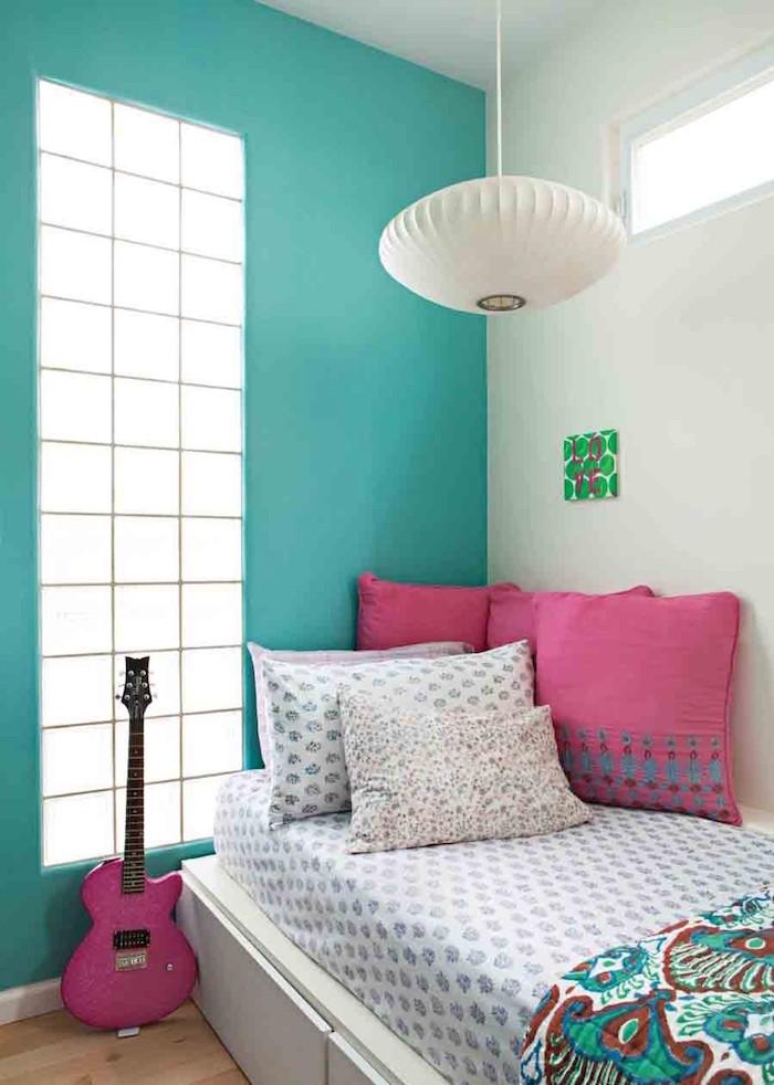 Chambre Fille Bleu Turquoise