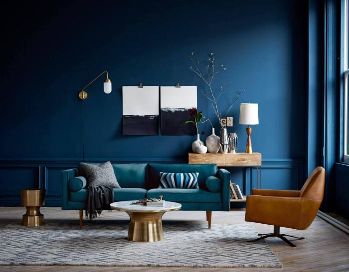 Bleu Pétrole Salon | Maison Vanves : Un Plain-pied De 170 M2 Remis à ...