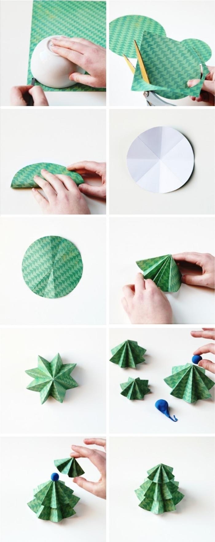 Deco Noel A Fabriquer En Papier Fabriquer Un Sapin De Noel En