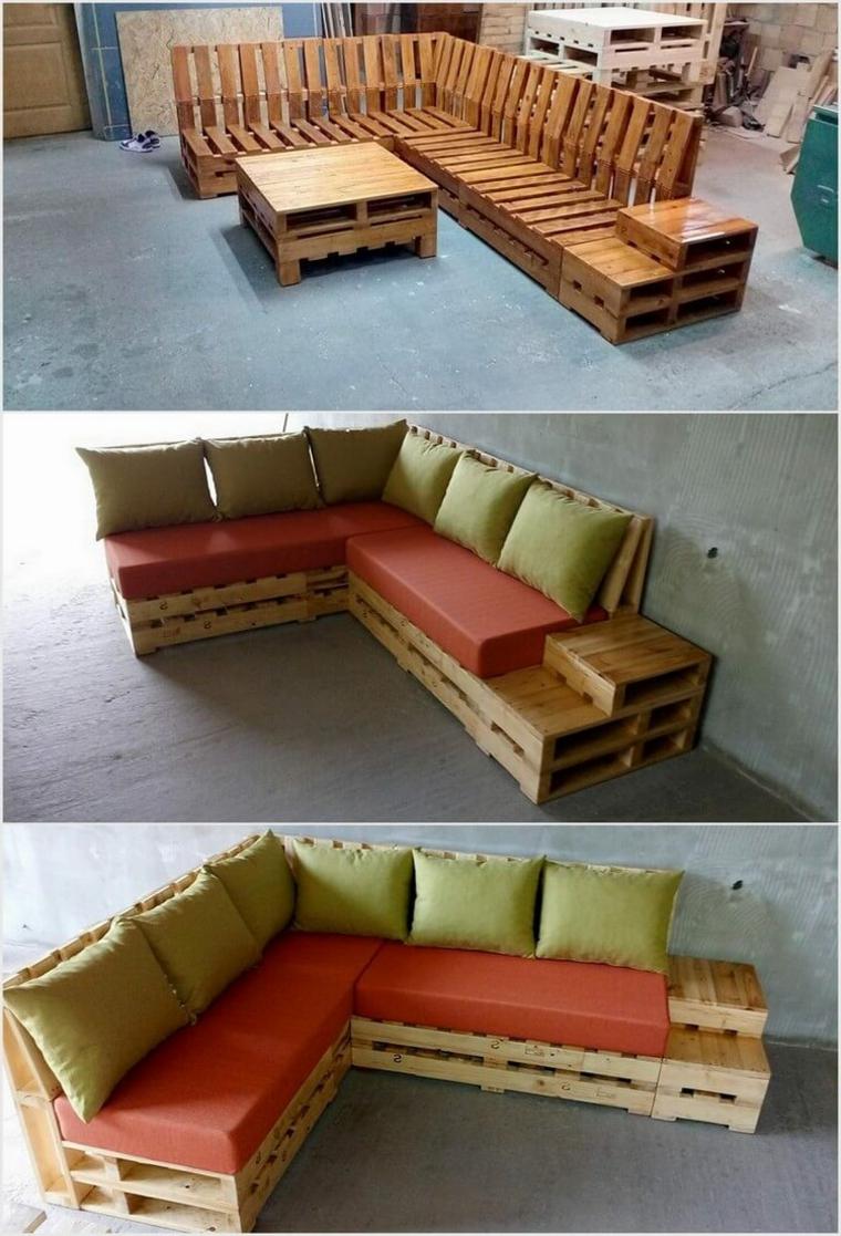 Pedane fai da te divano letto bancali for Arredamento con pedane