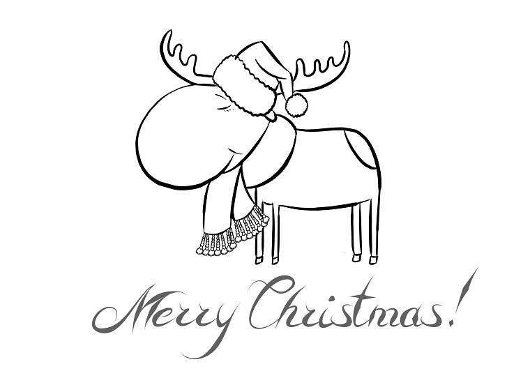 Buon Natale Da Stampare.Bigliettini Di Buon Natale Da Colorare Free Downloads