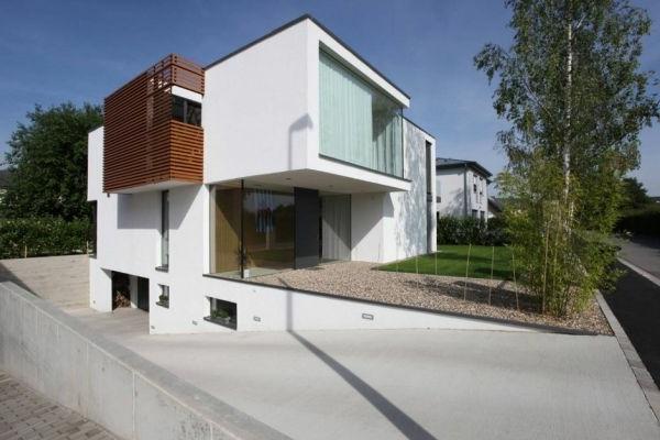 Fassadenfarbe Grau Modern ~ Kreative Bilder Für Zu Hause Design    Fassadenfarben Fur Hauser