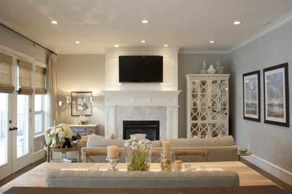 Wohnzimmer streichen - 106 inspirierende Ideen - Archzinenet - gestaltungsideen wohnzimmer