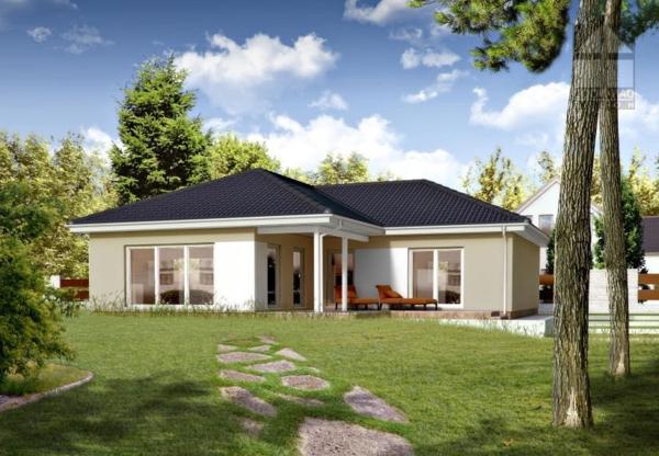Fassadengestaltung Bungalow Grau nzcen - fassadenfarbe beispiele