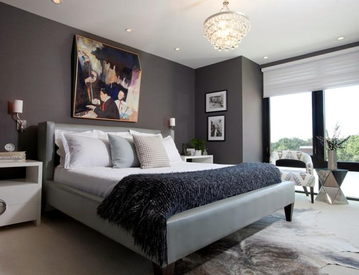 Mehr als 150 unikale Wandfarbe Grau Ideen! - Archzinenet - schlafzimmer gestalten wandfarbe