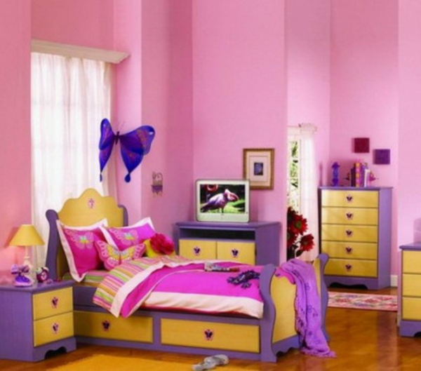 Kinderzimmer streichen - lustige Farben für eine freundliche - kinderzimmer streichen madchen