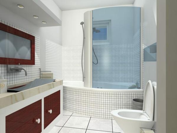 Kleines Bad Ideen - 57 wunderschöne Vorschläge - Archzinenet - weies badezimmer modern gestalten