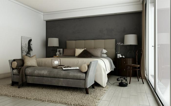 Schlafzimmer Wände Farblich Gestalten Braun rheumri - ideen schlafzimmer
