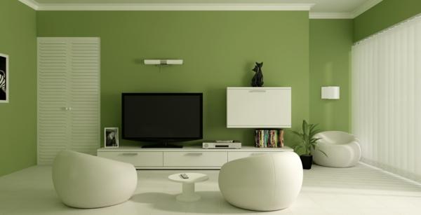 Grüntöne Wandfarbe - 40 super Vorschläge! - Archzinenet - zimmer weis streichen