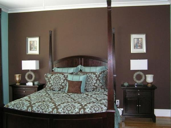 Einrichten mit Farben  Braune Möbel und Wände für - schlafzimmer wandgestaltung braun