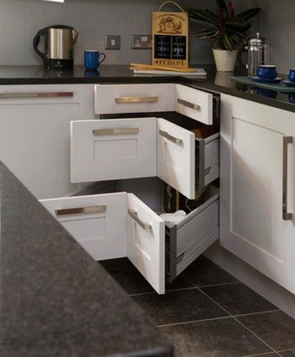 Kleine Küche einrichten - neue Beispiele! - Archzinenet - eckschrank kueche einrichtung ideen