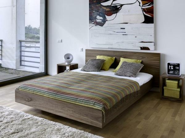 Beautiful Modernes Designer Doppelbett Holz Gallery ...