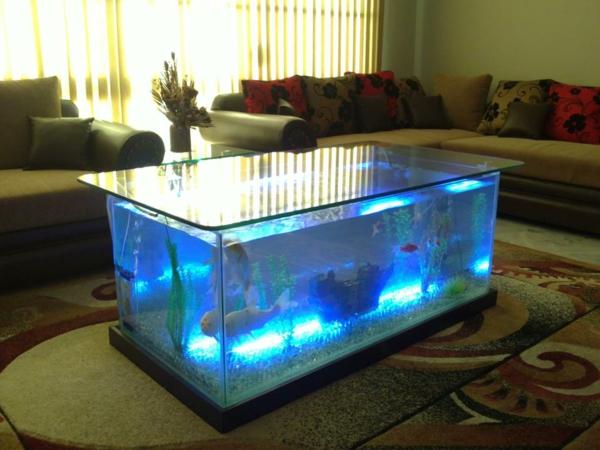 Aquarium Tisch Wohnzimmer  Aquariumtisch Kreative Entscheidung F252;r Ihr Zuhause