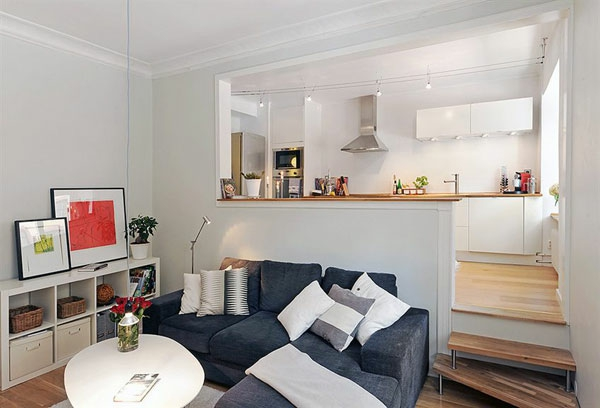 30 kluge Wohnideen für kleine Wohnung - Archzinenet - kleines wohnzimmer