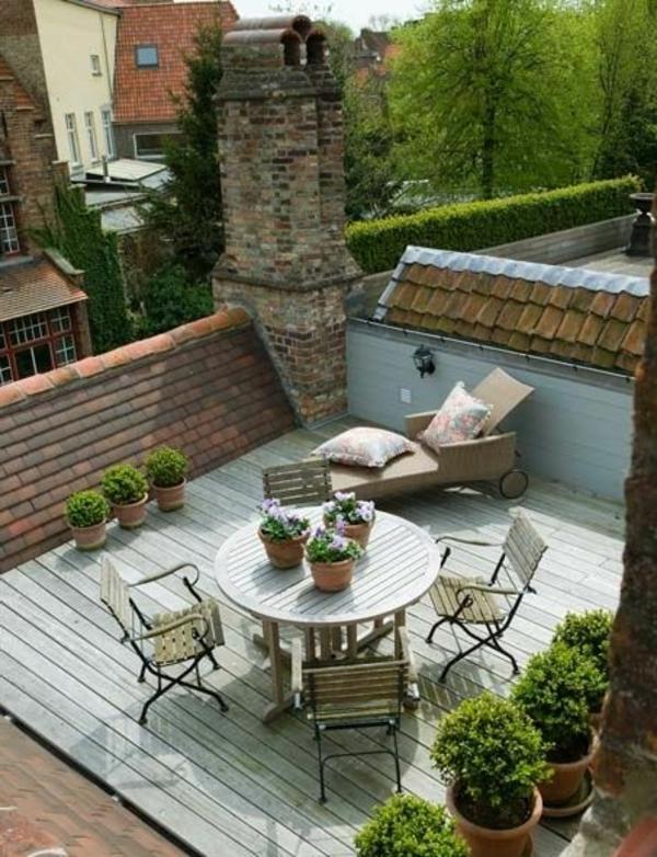 Eine Dachterrasse gestalten - neue fantastische Ideen - Archzinenet - kleine terrasse gestalten