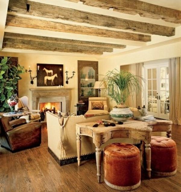 Wohnzimmer rustikal gestalten Teil 1 - Archzinenet - landhausstil rustikal wohnzimmer