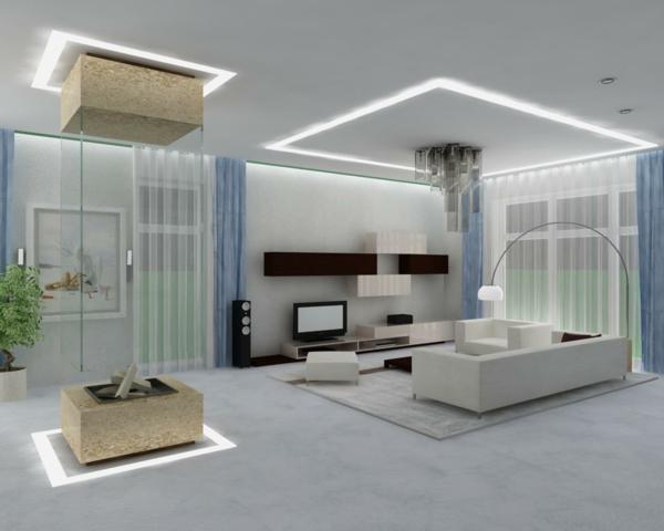 Wohnzimmer Beleuchtung Modern Wohnzimmerbeleuchtung Beispiele Und - beleuchtung wohnzimmer ideen
