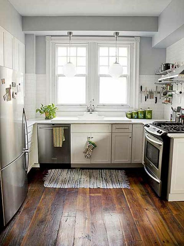 Kleine-kuche-einrichten-40 kleine küchen gestalten und planen - kleine kuche individuelle stauraumlosungen