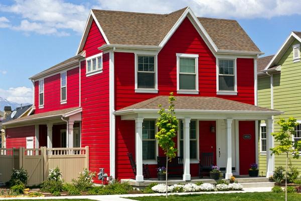 Hausfassade Farbe 3 fassadenfarbe-beispiele-3-50 die besten 25+ - fassadenfarbe beispiele