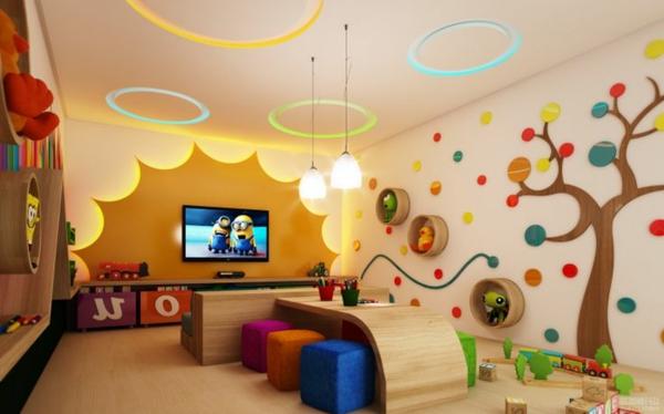 100 moderne Ideen für Kindergarten Interieur! - Archzinenet - kreative wandgestaltung