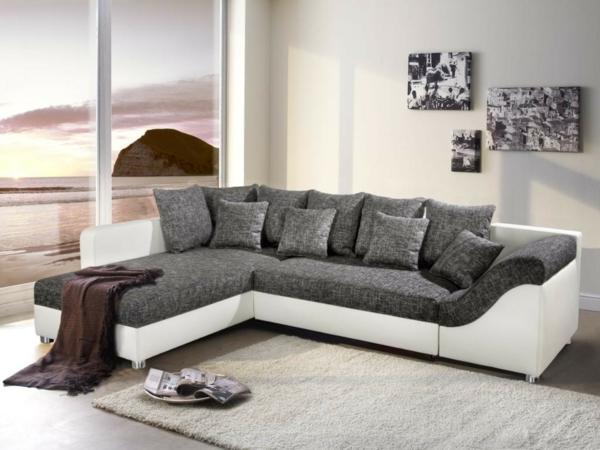 Anthrazit Couch Wohnzimmer Farbe  Ecksofa 105 Wunderbare Modelle F252;r Ihre Wohnung