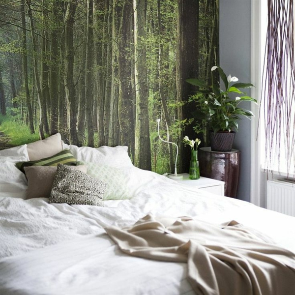 3d Fototapete Schlafzimmer  40 Ideen Mit Fototapete Wald Lassen Sie Die Natur Ins